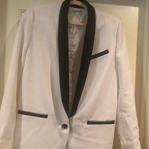 White Tuxedo Black